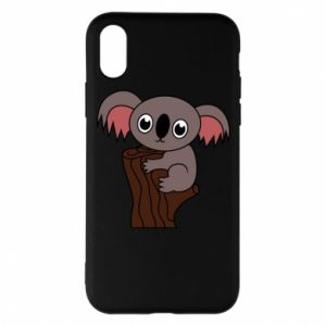 Etui na iPhone X/Xs Koala on a tree with big eyes
