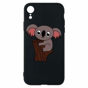 Etui na iPhone XR Koala on a tree with big eyes