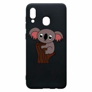 Etui na Samsung A20 Koala on a tree with big eyes