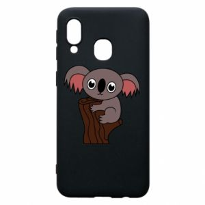 Etui na Samsung A40 Koala on a tree with big eyes