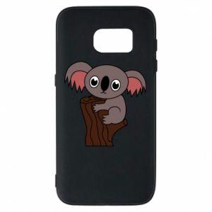 Etui na Samsung S7 Koala on a tree with big eyes