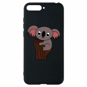 Etui na Huawei Y6 2018 Koala on a tree with big eyes