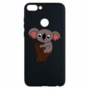 Etui na Huawei P Smart Koala on a tree with big eyes - PrintSalon