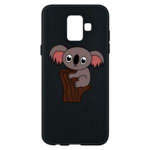 Etui na Samsung A6 2018 Koala on a tree with big eyes