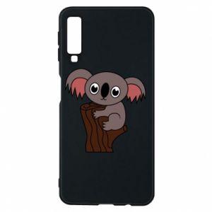 Etui na Samsung A7 2018 Koala on a tree with big eyes