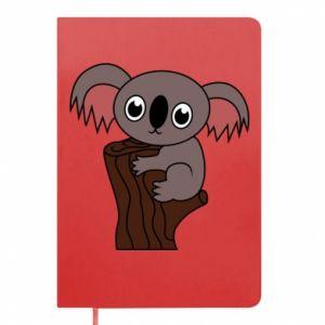 Notes Koala on a tree with big eyes