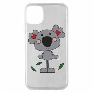 Etui na iPhone 11 Pro Koala with hearts