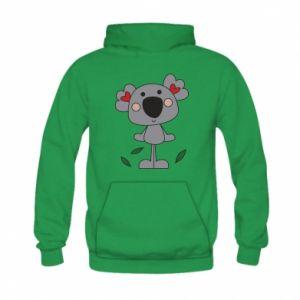 Bluza z kapturem dziecięca Koala with hearts