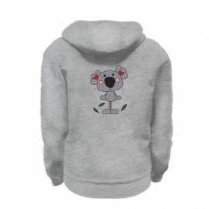 Bluza na zamek dziecięca Koala with hearts