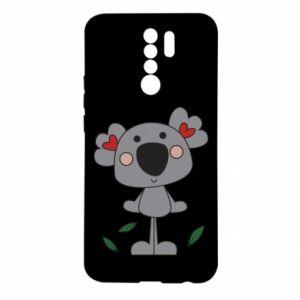 Etui na Xiaomi Redmi 9 Koala with hearts