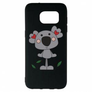 Etui na Samsung S7 EDGE Koala with hearts