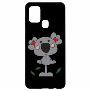 Etui na Samsung A21s Koala with hearts