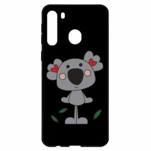 Etui na Samsung A21 Koala with hearts