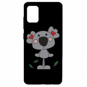 Etui na Samsung A51 Koala with hearts