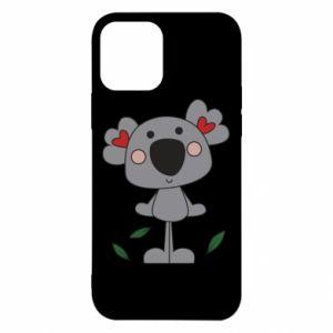 Etui na iPhone 12/12 Pro Koala with hearts