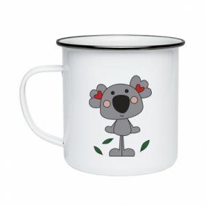 Kubek emaliowany Koala with hearts