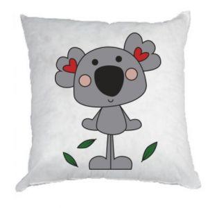 Poduszka Koala with hearts