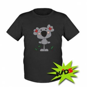 Kids T-shirt Koala with hearts