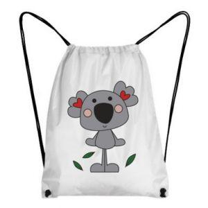 Plecak-worek Koala with hearts