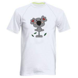 Koszulka sportowa męska Koala with hearts