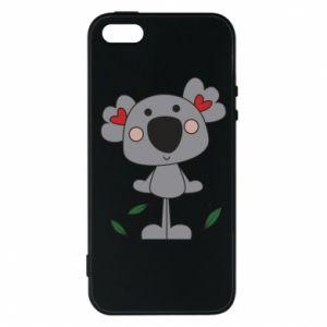 Etui na iPhone 5/5S/SE Koala with hearts