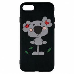 Etui na iPhone 7 Koala with hearts