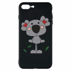 Etui do iPhone 7 Plus Koala with hearts