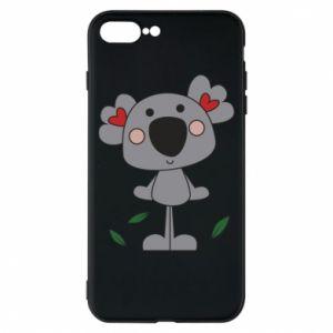 Etui na iPhone 8 Plus Koala with hearts