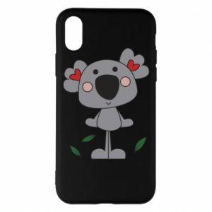 Etui na iPhone X/Xs Koala with hearts