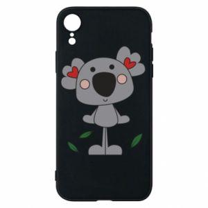 Etui na iPhone XR Koala with hearts