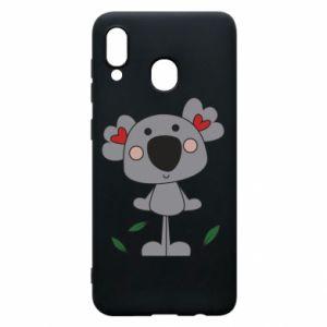 Etui na Samsung A20 Koala with hearts