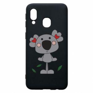 Etui na Samsung A40 Koala with hearts