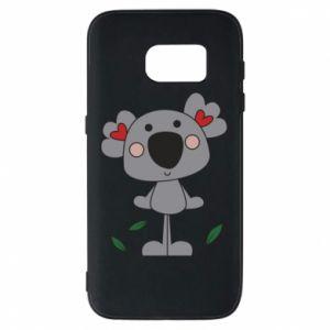 Etui na Samsung S7 Koala with hearts