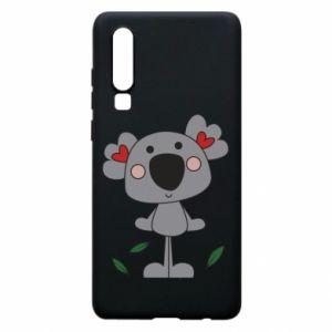 Etui na Huawei P30 Koala with hearts