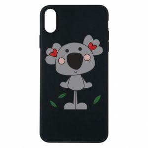 Etui na iPhone Xs Max Koala with hearts