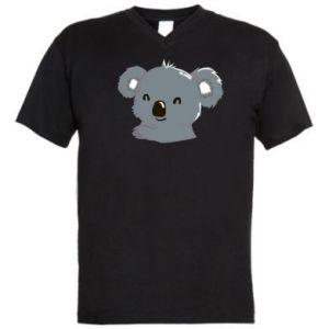 Męska koszulka V-neck Koala