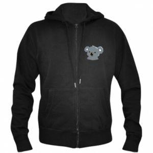 Men's zip up hoodie Koala