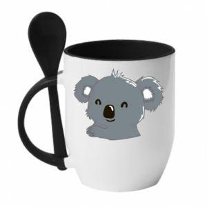 Kubek z ceramiczną łyżeczką Koala - PrintSalon