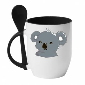 Mug with ceramic spoon Koala