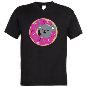 Męska koszulka V-neck Koala - PrintSalon