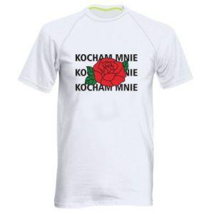 Męska koszulka sportowa Kochaj mnie