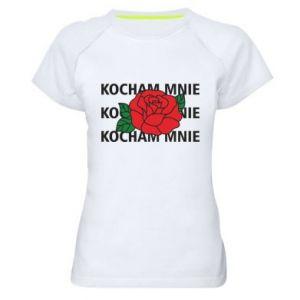 Damska koszulka sportowa Kochaj mnie