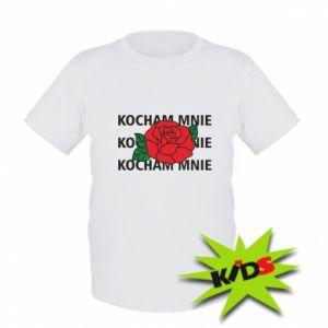 Dziecięcy T-shirt Kochaj mnie