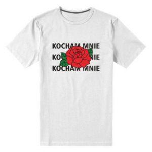 Męska premium koszulka Kochaj mnie