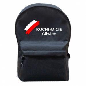 Plecak z przednią kieszenią Kocham cię Gliwice