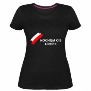 Damska premium koszulka Kocham cię Gliwice