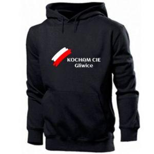 Men's hoodie I love you Gliwice
