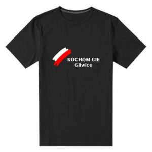 Męska premium koszulka Kocham cię Gliwice