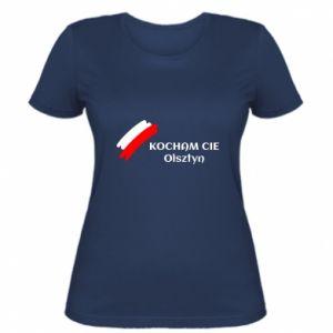 Damska koszulka Kocham cię Olsztyn