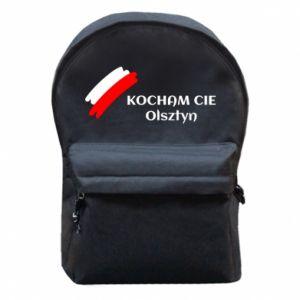 Plecak z przednią kieszenią Kocham cię Olsztyn